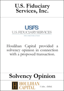 U.S. Fiduciary Services - Solvency Opinion Tombstone