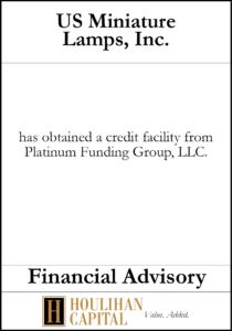US Miniature Lamps Inc - Financial Advisory Tombstone