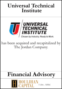 Universal Technical Institute - Financial Advisory Tombstone
