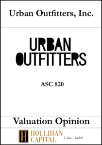Urban Outfitters - ASC 820 - Valuation Opinion Tombstone