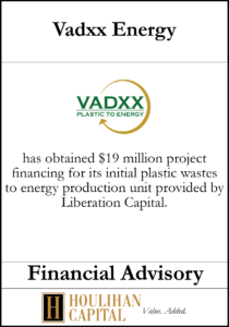 Vadxx Energy - Financial Advisory Tombstone
