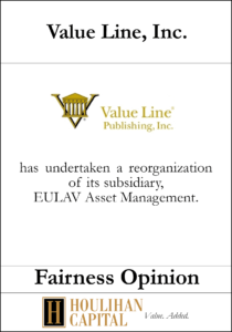 Value Line - Fairness Opinion Tombstone