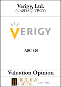 Verigy - ASC 820 - Valuation Opinion Tombstone