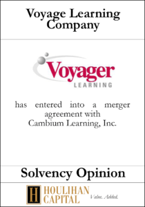 Voyager Learning - Solvency Opinion Tombstone