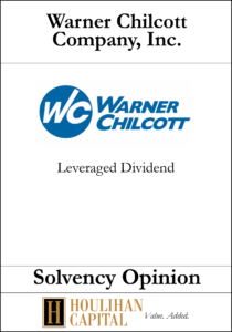 Warner Chilcott - Solvency Opinion Tombstone