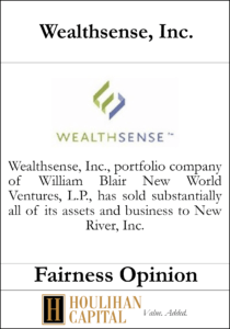 Wealthsense Inc - Fairness Opinion Tombstone