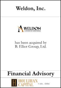 Weldon - Financial Advisory Tombstone