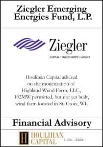Ziegler Emerging Energies Fund - Financial Advisory Tombstone