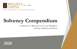 Houlihan Capital Solvency Compendium 2019