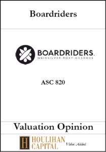 Boardriders, Inc. - ASC 820