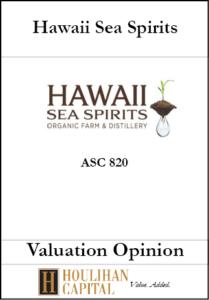Hawaii Sea Spirits - ASC 820