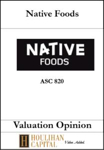 Native Foods - ASC 820