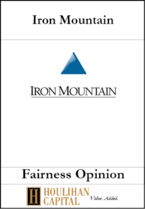 Iron Mountain - Fairness Opinion