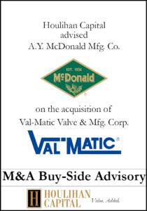 A.Y. McDonald Mfg. Co. - Financial Advisory Tombstone